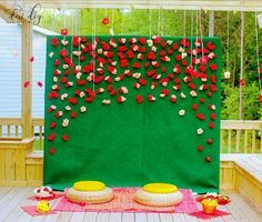 Colourful decor for haldi ceremony Housewarming Decorations, Wedding Stage Decorations, Backdrop Decorations, Diwali Decorations, Backdrops, Background Decoration, Decoration Crafts, Naming Ceremony Decoration, Marriage Decoration