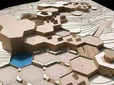 Agrobiological Research Center Volos (Greece) / Nikoleta Grigoroudi Concept Architecture, Futuristic Architecture, Landscape Architecture, Landscape Design, Architecture Design, Module Design, Arch Model, Modelos 3d, Urban Design