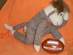 haha Tim Tebow Denver Broncos Sock Monkey Doll & Football ($38)