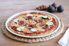 vegane Pizza mit Feigen, Süßkartoffel und Zucchini http://whoismocca.com/lifestyle/vegane-pizza-mit-feigen-suesskartoffel-und-zucchini/