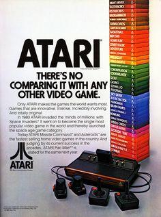 Atari ad before Pac-Man Atari Pac-Man Retro video games Vintage Video Games, Retro Video Games, Vintage Games, Vintage Toys, Retro Ads, Vintage Advertisements, Retro Vintage, Retro Vector, Alter Computer