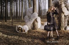 Lindsey Wixson: Mulberry A/W '12 Campaign