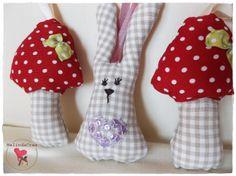 small textile decorations ~ handmade by MelindaCrea