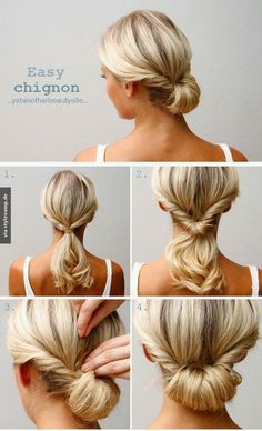 Sweet and Easy Chignon