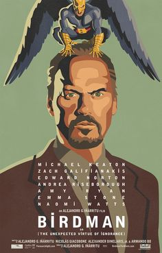 Qué PELICULÓN! 10|10.Poster from the movie Birdman.