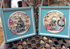 OOAK pair of vintage Alice In Wonderland matching plaques by DottyCottage1 on Etsy