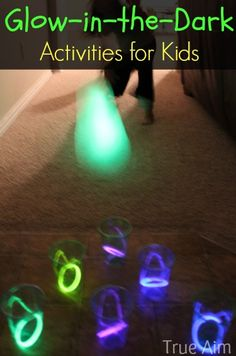 Glow in the dark activities, great for parties or family fun night.