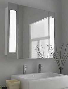Kaia Fluorescent Illuminated Mirror With Sensor Demister Pad And Shaver Socket Size H600 X W450 D45 Mm