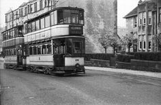 Trams at Mearns Road, Clarkston, Glasgow Glasgow Scotland, World History, Childhood Memories, Britain, Transportation, Paisley, Scenery, Around The Worlds, Street View