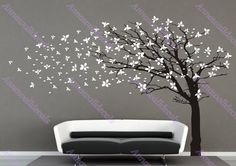 Cherry blossom tree wall decals,wall decals, children wall decals,vinyl wall decal, wall stickers,tree wall decals