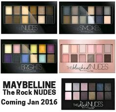 A quick comparison of the previous Maybelline palettes to the upcoming The Rock Nudes Palette (launching Jan 2016)