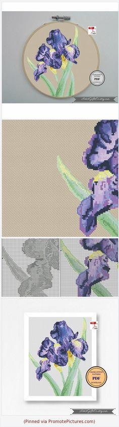 Botanical Art Cross stitch pattern PDF Iris Xstitch chart Purple flower Gladiolus Counted Cross Stitch Violet floral Xstitch Hoop art PDF https://www.etsy.com/ArtistGiftsCo/listing/612731239/botanical-art-cross-stitch-pattern-pdf?ref=listing-shop-header-0 https://www.etsy.com/ArtistGiftsCo/listing/612731239/botanical-art-cross-stitch-pattern-pdf?ref=listing-shop-header-0  (Pinned using https://PromotePictures.com)