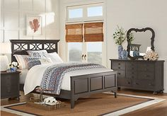 Cindy Crawford Home Seaside Gray 5 Pc Queen Panel Bedroom. $1,188.00.  Find affordable Bedroom Sets for your home that will complement the rest of your furniture.