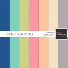 Thanksgiving Solid Papers Kit*