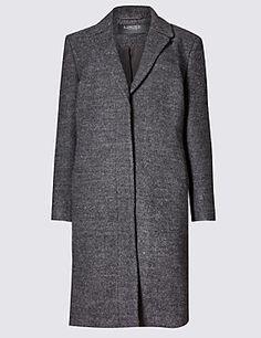 Long Sleeve Bouclé Coat