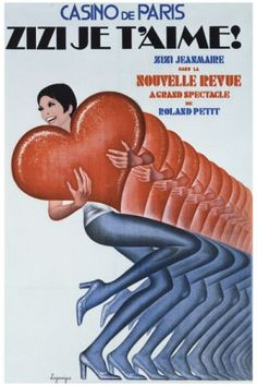 Casino de Paris vintage poster G80637 , Vintage Poster Market : Online Entertainment Posters & art illustrations, old reproduction