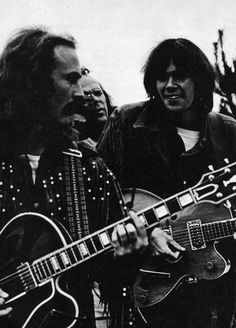 David Crosby and Neil Young, Big Sur Festival 1969, photo by Jim Marshall