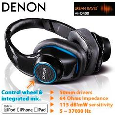 Urban Raver Kopfhörer Denon AH-D400 für 80€ - basslastige Kopfhörer mit Mikrofon *UPDATE* - myDealZ.de