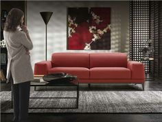 Martini is a stylish floor lamp in line with the latest minimalist trends. Red Leather Couches, Modern Leather Sofa, Red Couch Living Room, Lounge Decor, Sofa Furniture, Living Room Designs, Home Decor, Sofas, Hatton Garden