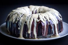 A festive treat perfect for a party. Irish Car Bomb Bundt Cake includes a rich chocolate base, whiskey ganache, and Irish cream drizzle.
