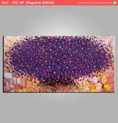 Flower Painting LARGE Painting Wall Art Canvas Art by Topart007