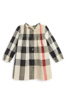 Burberry Ruffle Check Dress (Baby Girls) available at #Nordstrom