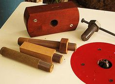 Shop-made Thread Cutting Tools for Wood. I don't know that I like the way this guy did it but it is a good idea.