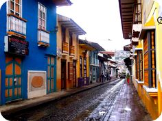 Calle Lourdes, Loja, Ecuador.  A city well known for it's music and eco-friendly (green) efforts.