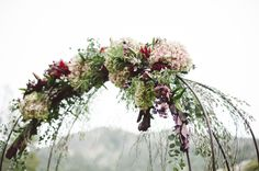 Super romantic fall wedding arbor // Hannah Arista Photography