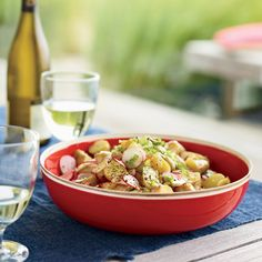 Baby Potato Salad with Radishes and Celery Recipe - Delish.com