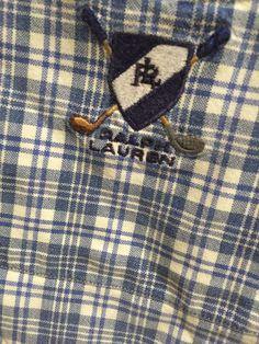 Ralph Lauren Polo Tilden Camp Shirt XL EXTRA LARGE Blue Plaid Button Front #RalphLauren #ButtonFront