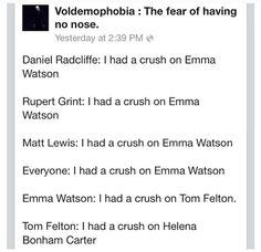 When every boy likes you but the one you WANT to like you... << I HAD A CRUSH ON EMMA WATSON IT'S IMPOSSIBLE TO NOT HAVE A CRUSH ON EMMA FREAKING WATSON