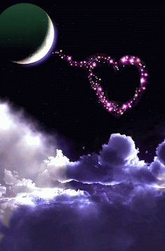 Imagini pentru pinimg com originals Heart Wallpaper, Galaxy Wallpaper, Nature Wallpaper, Good Night Image, Good Morning Good Night, Moon Pictures, Nature Pictures, Coeur Gif, Corazones Gif