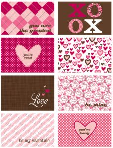 printable valentines card day of hearts