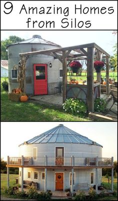 9 Amazing Homes Prove That Silos Can be So Much More Than Just Storage for Grains! 9 Amazing Homes Prove That Silos Can be So Much More Than Just Storage for Grains! Silo House, Tiny House Cabin, Tiny House Living, Tiny House Plans, Tiny House Design, House Roof, Pergola, Gazebo, Grain Silo