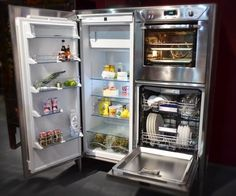Combination Refrigerator, Dishwasher, & Oven Unit from Alpes Inox — EuroCucina 2012