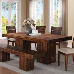 A Very Solid 7 Foot Long X 3 Foot Wide Dining Table With Four 4 Legs Made From