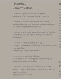 Idea of wedding vows: for sure to make you tear up just reading them!