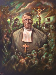 Peter Howson, 'Brother Walfrid: The Founder', 2014, Oil on Canvas.
