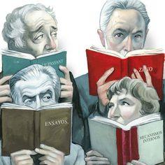 Harold Bloom, J. M. Coetzee, Aldous Huxley y Natalia Ginzburg [artículo] Qué leen los grandes escritores. Por Alberto Manguel | Babelia