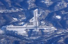 Yeager Airport, Charleston, West Virginia...(and I add) named for Chuck Yeager, the first pilot to break the sound barrier, who was from here in WV.