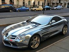 Auto Tuning : Dream Car in chrome – Mercedes Mclaren Roadster. Bugatti, Maserati, Lamborghini, Ferrari, Mclaren Slr, Mercedes Benz Mclaren, Mercedes Slr, Sexy Cars, Hot Cars