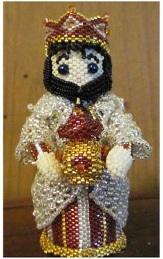 3D Beaded Wise Man 2 Pattern | Bead-Patterns.com