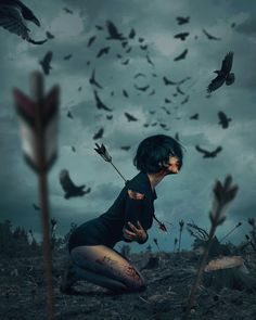 Turkish Artist Hüseyin Şahin Creates Stunning Imaginative And Dreamlike Photo Manipulations Hüseyin Şahin a.aspect (in the past) is a skilled artwork director, virtual and. Dark Fantasy, Fantasy Art, Sad Art, Anime Kunst, Gothic Art, Photo Manipulation, Art Girl, Amazing Art, Awesome