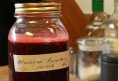 Shrub - the drinking kind. drinking vinegars, domestically, this drink was made popular during colonial times. link for more info: http://www.nytimes.com/2008/11/09/style/tmagazine/09cecchiniw.html?adxnnl=1=1334066353-DalGKbsjXUxzeXZ6uhZg8A    The syrup recipe is 1 part fruit, 1 part sugar, and 1 part vinegar. In this case it was:    You can make it with any fruit, Pok Pok even serves a celery one.