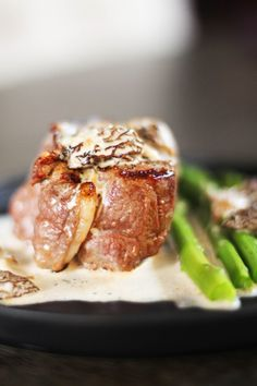 Filet Mignon with Morel Sauce- You'll think you're at the restaurant!  Perfect recipe for date night. #beef #steak #filetmignon #morel #creamsauce