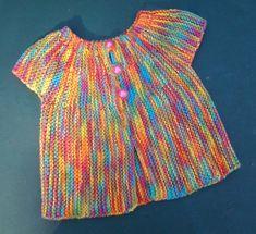 Gilet, brassière bébé sans manches coton tricoté main , gilet bébé été coton multicolore Pulls, Articles, Blouse, Tops, Fashion, Sleeves, Cotton, Tricot, Moda