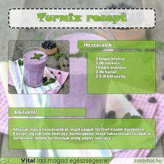 Áfonya turmix recept #zöldturmix #turmix Smoothies, Minden, Drinks, Healthy, Breakfast, Food, Smoothie, Drinking, Morning Coffee