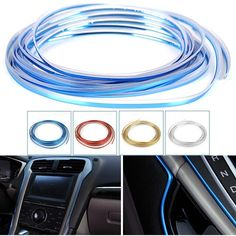 [Visit to Buy] New 5m Car Grille Interior Exterior Mouldings Trim Decorative Red/Gold/Blue/Silver Strip Line For Honda/Toyota/Hyundai/Jeep/Kia #Advertisement
