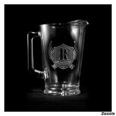 Winged Shield Personalized Pitcher